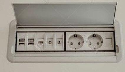 enchufes modernos de luz