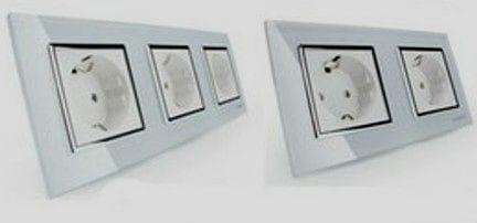 enchufes modernos e interruptores